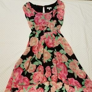 Candie's Floral High-Low Dress